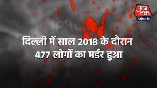 दिल्ली में बढ़ा कत्ल का आंकड़ा, बीते साल छोटी-छोटी बातों पर हुए मर्डर - AAJTAKTV