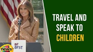 First Lady Melania Trump Says She Will Continue To Travel And Speak To Children | Mango News - MANGONEWS