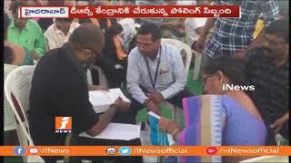 సికింద్రాబాద్ డిఆర్సీ కేంద్రానికి చేరుకున్న పోలింగ్ సిబ్బంది | iNews - INEWS