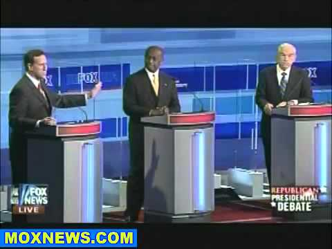 3rd GOP Presidential Republican Debate - Ron Paul on Iran vs. Santorum: Part 6