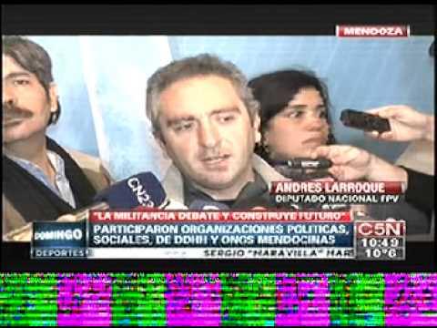 Rueda de prensa al Diputado Andrés Larroque en Mendoza