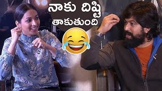 Actress Srinidhi Shetty Making Fun With Yash About His Hair   KGF Team Funny Interview   TFPC - TFPC