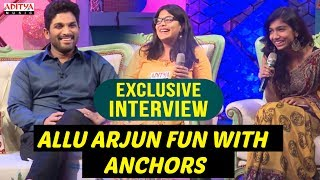 Allu Arjun & Pooja Fun With Anchors | Allu Arjun & Pooja Hegde Exclusive Interview About DJ - ADITYAMUSIC