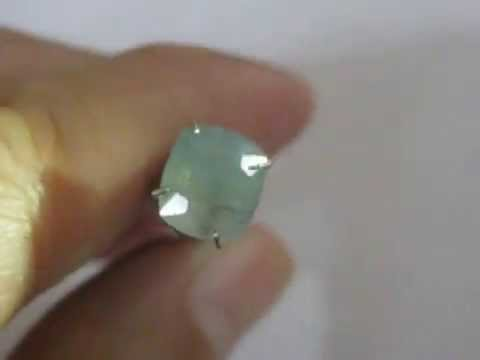 Batu Permata Safir Afrika Warna Light Blue 2.17 Carat