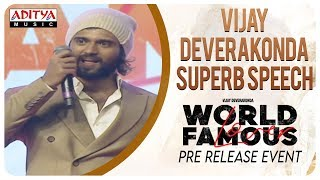 Vijay Deverakonda Superb Speech @ #WorldFamousLover Pre Release Event LIVE | Vijay Deverakonda - ADITYAMUSIC