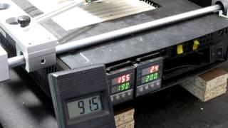 Установка пайка чипа BGA инфракрасной ИК паяльной станцией Pireg