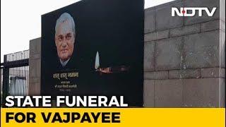 Rashtriya Smriti Sthal Ahead Of The Atal Bihari Vajpayee's Last Rites - NDTV