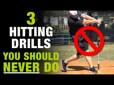 3 Hitting Drills You Should NEVER DO!