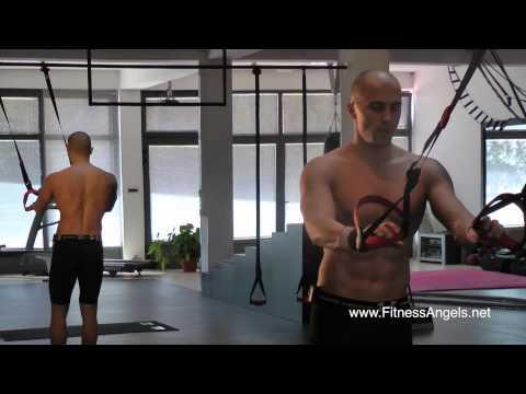 Srednje teški trening bez pauze sa suspenzijskim trakama: rutina 1