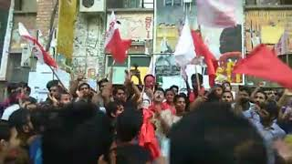 JNU election , left party members celebrating their massive win - ITVNEWSINDIA