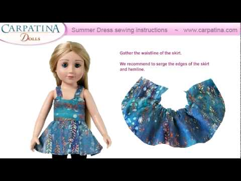 Free Summer Dress pattern & sewing instructions for 18 inch dolls by Carpatina