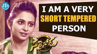 I Am a Very Short Tempered Person - Rakul Preet || Sarrainodu || Talking Movies with iDream - IDREAMMOVIES