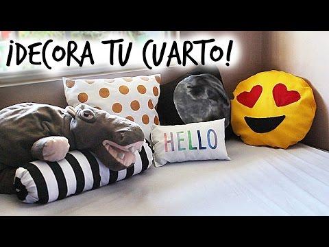 ¡DECORA TU CUARTO CON COJINES! ♥ | Danielalala