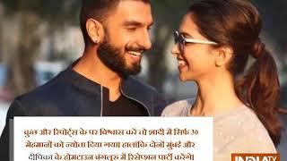 Deepika Padukone and Ranveer Singh wedding may have four grand functions - INDIATV