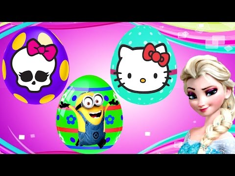 16 Surprise Eggs NEW Frozen Monster High Despicable Me Hello Kitty Egg Toys by Disney Cars Toy Club