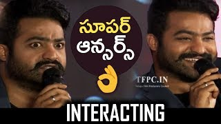 Jr NTR Superb Answers To Media Questions @ Bigg Boss Press Meet | Jr NTR Interacting With Media - TFPC
