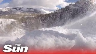 GoPro captures terrifying moment skier gets caught in an avalanche - THESUNNEWSPAPER