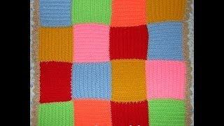 Плед Цветной - 1 часть - Crochet blanket squares - вязание крючком