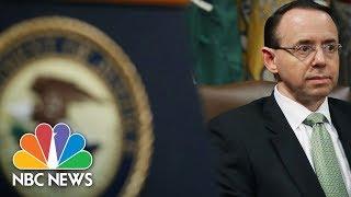Watch Live: Deputy Attorney General Rod Rosenstein makes law announcement - NBCNEWS