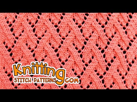 Grapevine stitch | Lace Knitting #23