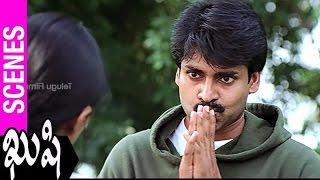 Pawan Kalyan Flirting With Bhumika | Kushi Movie | Ali | SJ Surya | Mani Sharma - TELUGUFILMNAGAR