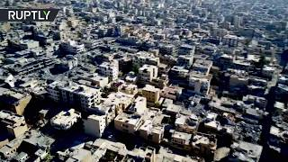 Ghost Town: Aerial footage of ruined Raqqa - RUSSIATODAY