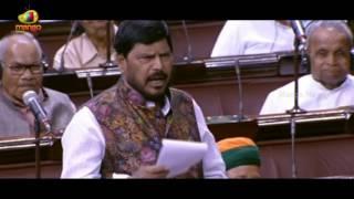 Ramdas Athawale Poetic Farewell To Chairman Hamid Ansari   Rajya Sabha   Mango News - MANGONEWS
