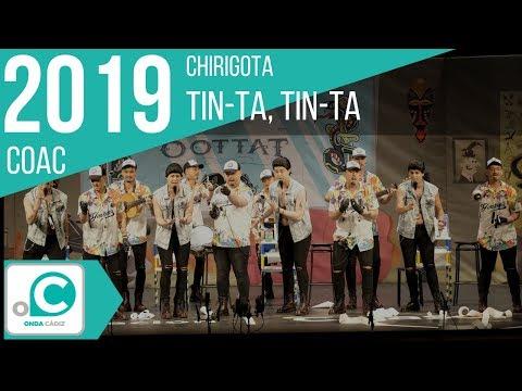 La agrupación Tin-Ta, Tin-Ta llega al COAC 2019 en la modalidad de Chirigotas. En años anteriores (2018) concursaron en el Teatro Falla como Harto palo, consiguiendo una clasificación en el concurso de Preliminares.