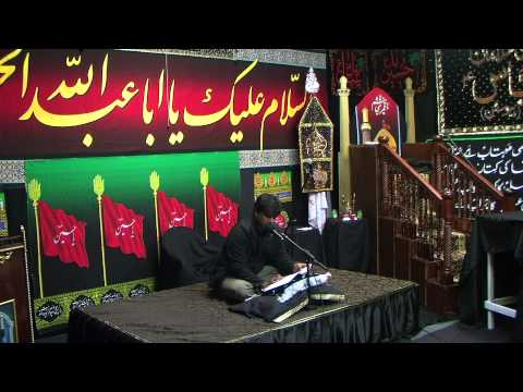 Dar e Abbas Houston 6th Muharram Tussadaq Hussain 11 10 2013