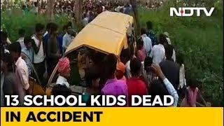 13 Children Killed As Train Hits School Bus In Uttar Pradesh's Kushinagar - NDTV