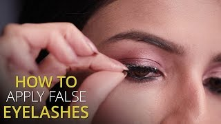 How To Apply False Eyelashes | DIY Beauty Tutorial - ZOOMDEKHO