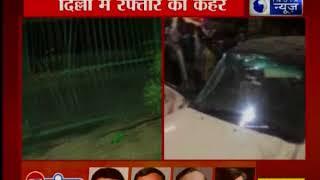 दिल्ली में रफ्तार का कहर- हादसे के बाद कार के उड़े परखच्चे, एक की मौत - ITVNEWSINDIA