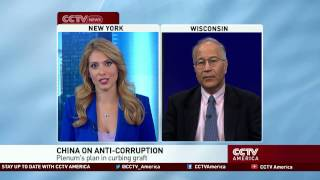 See the news report video by Commentator Einar Tangen discusses China's fight against political corruption