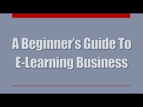 E-Learning Business - A Beginner