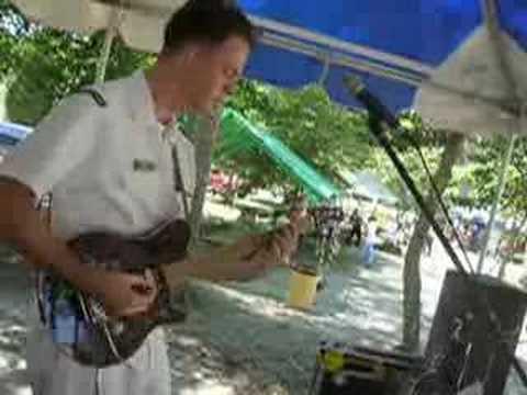 Navy musician Ben Coker - Van Halen solos