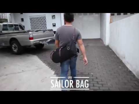TAS SELEMPANG / BACKPACK / DUFFEL SAILOR MILITER on sling mode