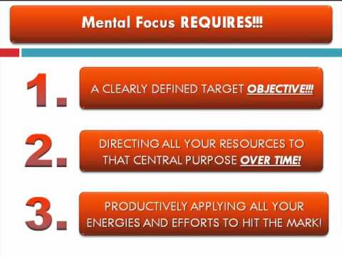 Brain Training:  Mental Concentration Vs. Mental Focus Part 07 of 07