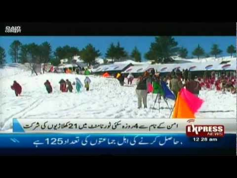 snow ski peace gala in malam jabba swat valley pakistan 2013