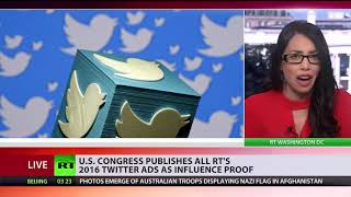 Still searching for Russiagate evidence? US publishes all RT's 2016 Twitter ads - RUSSIATODAY