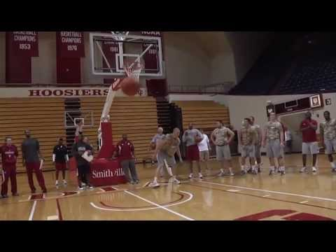 IU Football Dunk Contest