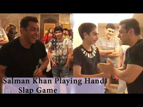 Salman Khan Playing Hand Slap Game With His Nephews