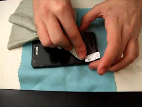 How To Apply The Profilm Anti-Glare screen Protector For Samsung Galaxy S2