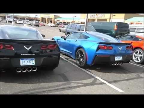 Group of 2014 C7 Corvette Stingrays caught on the street - Arizona