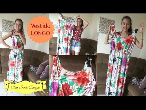 Como costurar um vestido longo por Alana Santos Blogger
