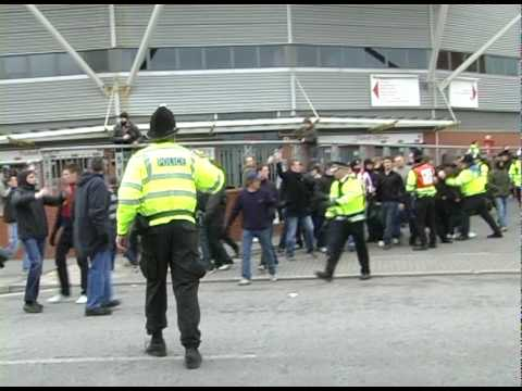FOOTBALL VIOLENCE BREAKS OUT AFTER DERBY MATCH BETWEEN SOUTHAMPTON AND PORTSMOUTH