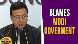 Randeep Singh Surjewala Blames Modi Goverment For Keeping Fake Cases On Congress Leaders| Mango News - MANGONEWS