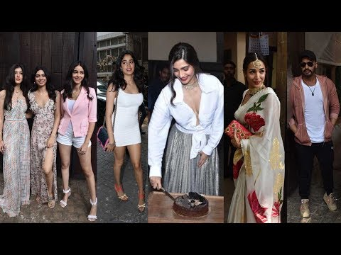 Sonam Kapoor's 35th Birthday Celebration With Arjun, Malaika Arora, Janhvi Kapoor & Ananya Panday