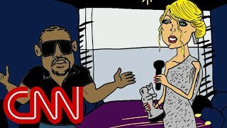 Kanye and Taylor Swift renew feud - Drawn by Jake Tapper - CNN