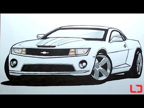 Como desenhar carros: Camaro SS - How to draw cars: Camaro SS