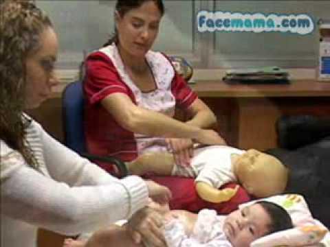 Masaje Abdomen al Bebé  Facemama.com